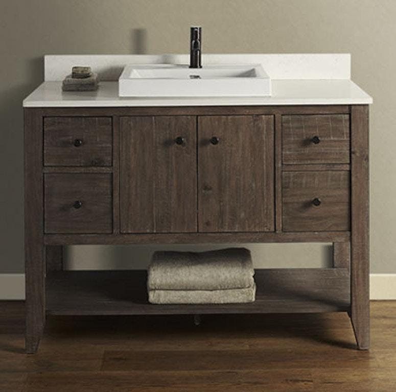 Pleasant Fairmont Designs Bathroom River View 48 Inches Open Shelf Download Free Architecture Designs Sospemadebymaigaardcom
