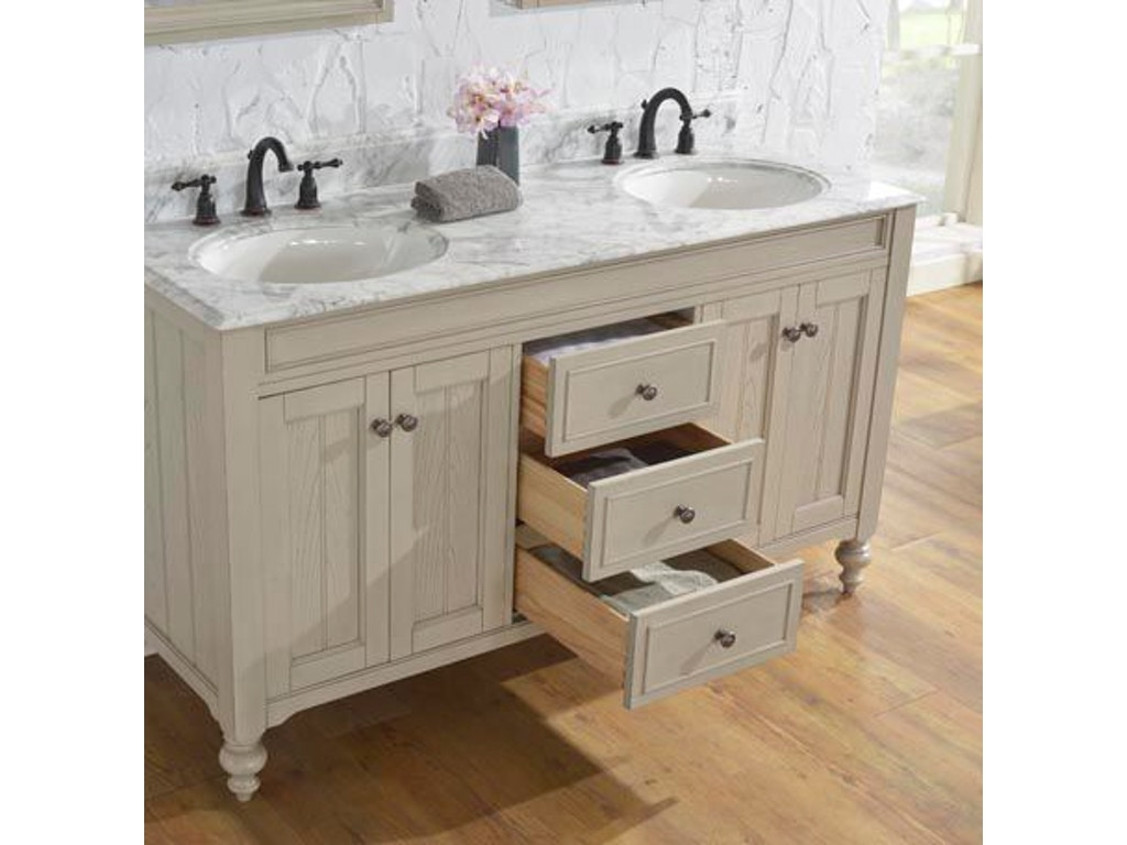 Bathroom vanities syracuse ny - Fairmont Designs 60 Inches Double Bowl Vanity 1524 V6021d