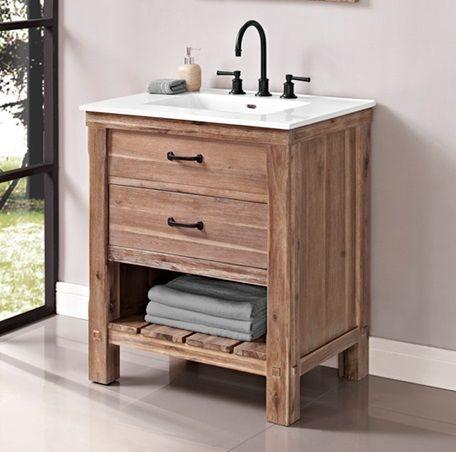 Bathroom Accessories Edmonton Alberta fairmont designs bathroom 30 inches open shelf vanity 1507-vh30
