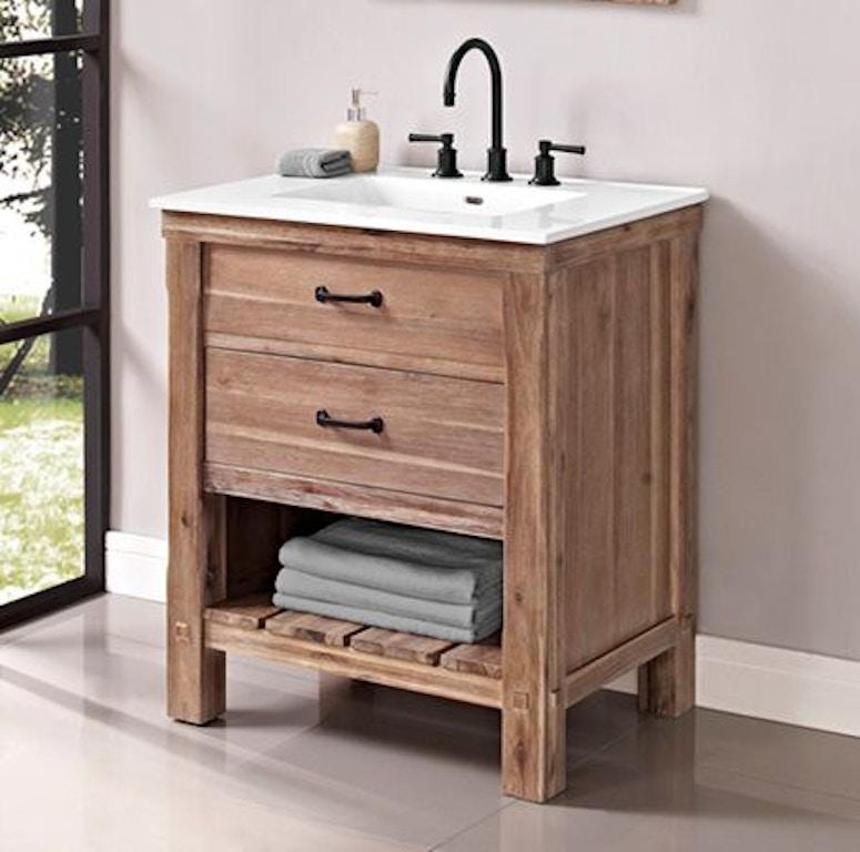 Astounding Fairmont Designs Bathroom Napa 30 Open Shelf Vanity 1507 Caraccident5 Cool Chair Designs And Ideas Caraccident5Info