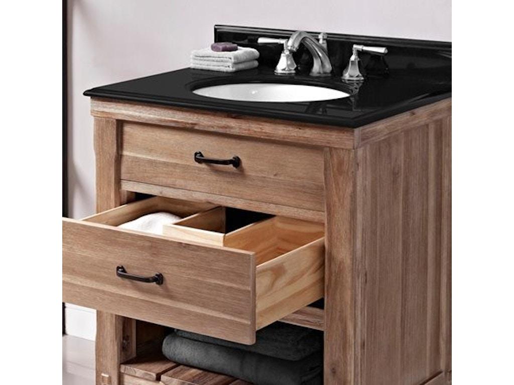 Open Shelf Vanity Bathroom Fairmont Designs Bathroom 30 Inches Open Shelf Vanity 1507 Vh30