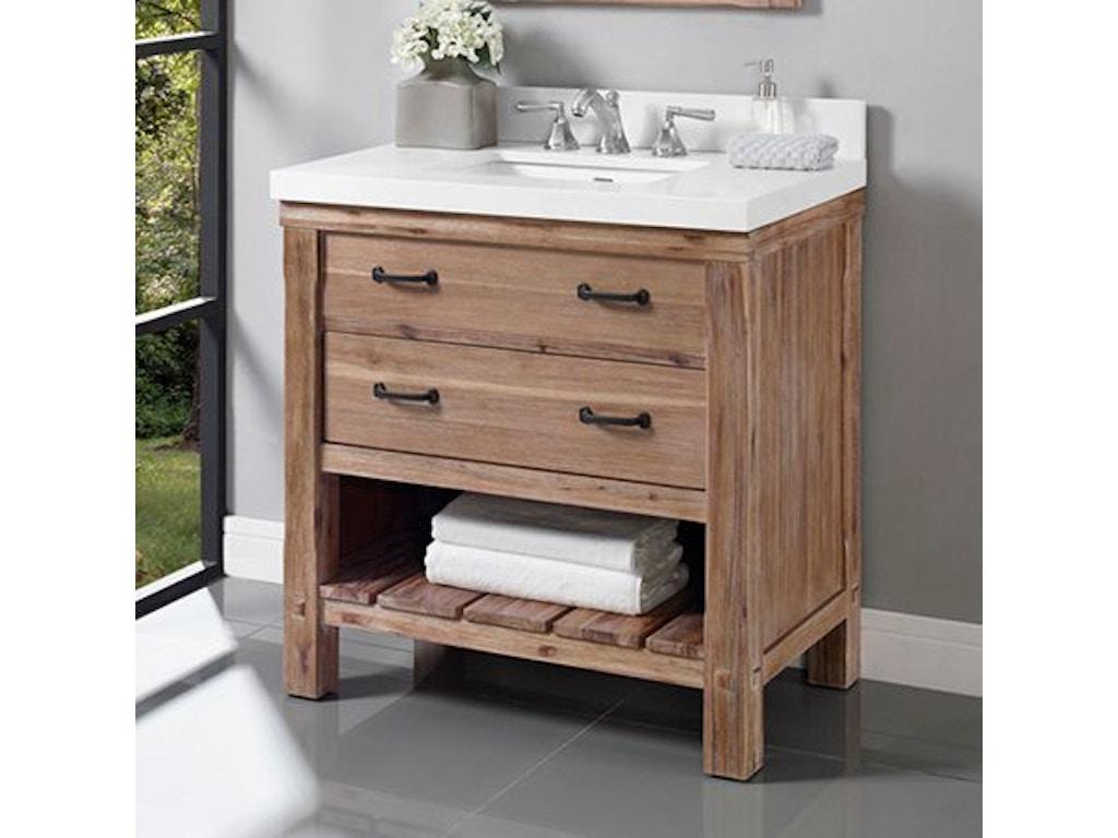 Bathroom 36 inches open shelf vanity 1507 vh36 at osmond designs