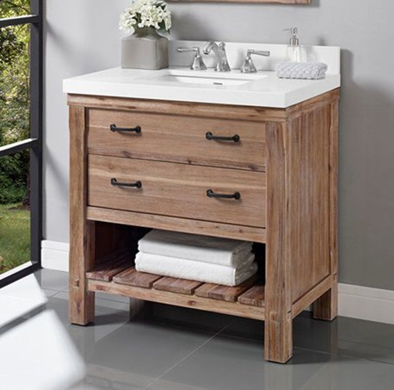 Groovy Fairmont Designs Bathroom Napa 36 Open Shelf Vanity 1507 Caraccident5 Cool Chair Designs And Ideas Caraccident5Info