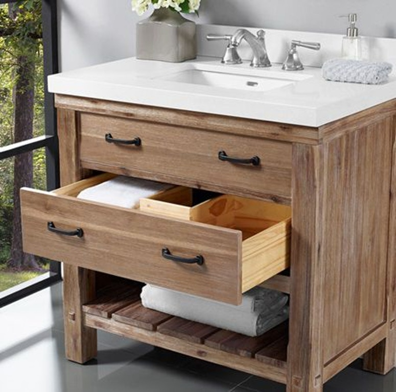 Amazing Fairmont Designs Bathroom Napa 36 Open Shelf Vanity 1507 Caraccident5 Cool Chair Designs And Ideas Caraccident5Info