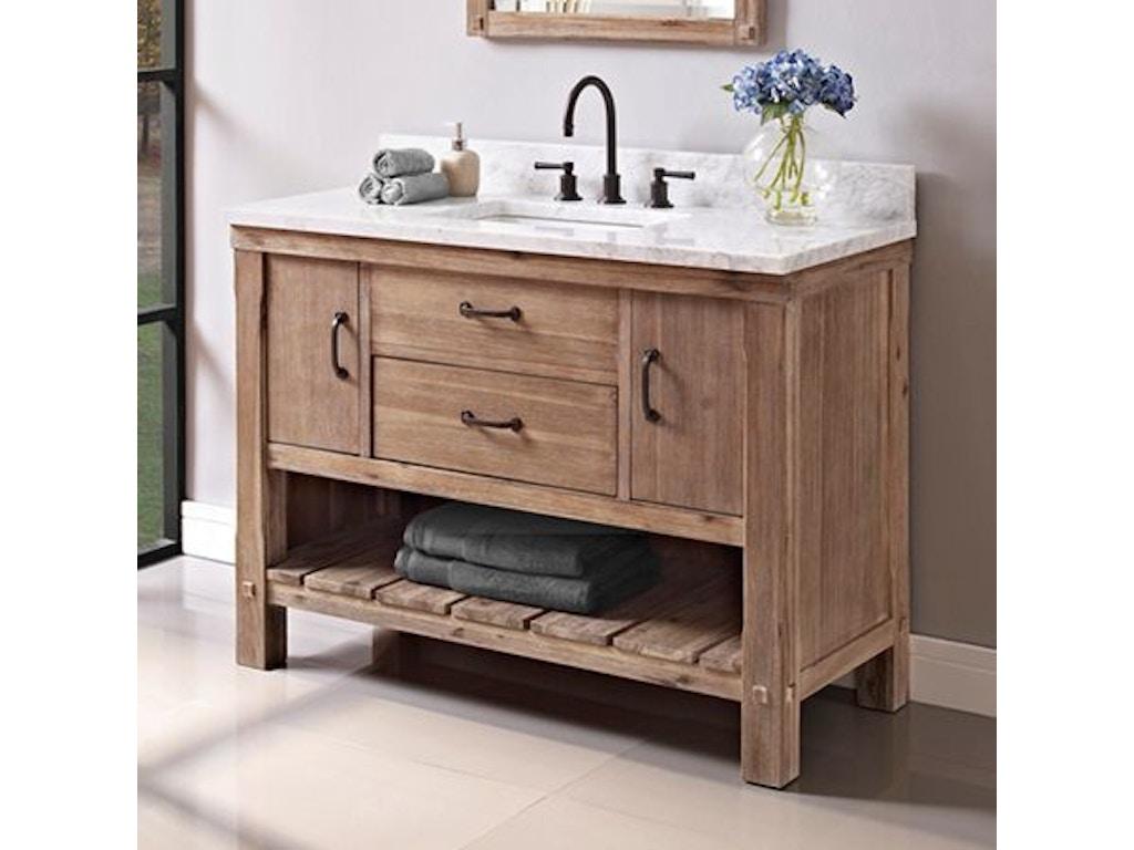 Bathroom 48 inches open shelf vanity 1507 vh48 at osmond designs