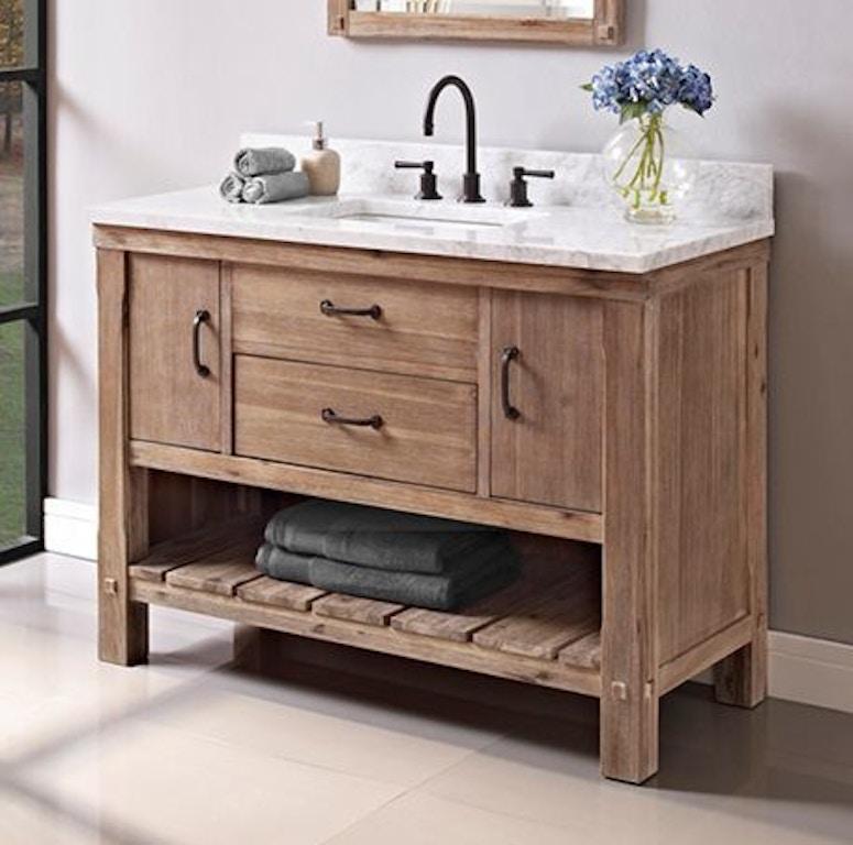 Prime Fairmont Designs Bathroom Napa 48 Open Shelf Vanity 1507 Caraccident5 Cool Chair Designs And Ideas Caraccident5Info