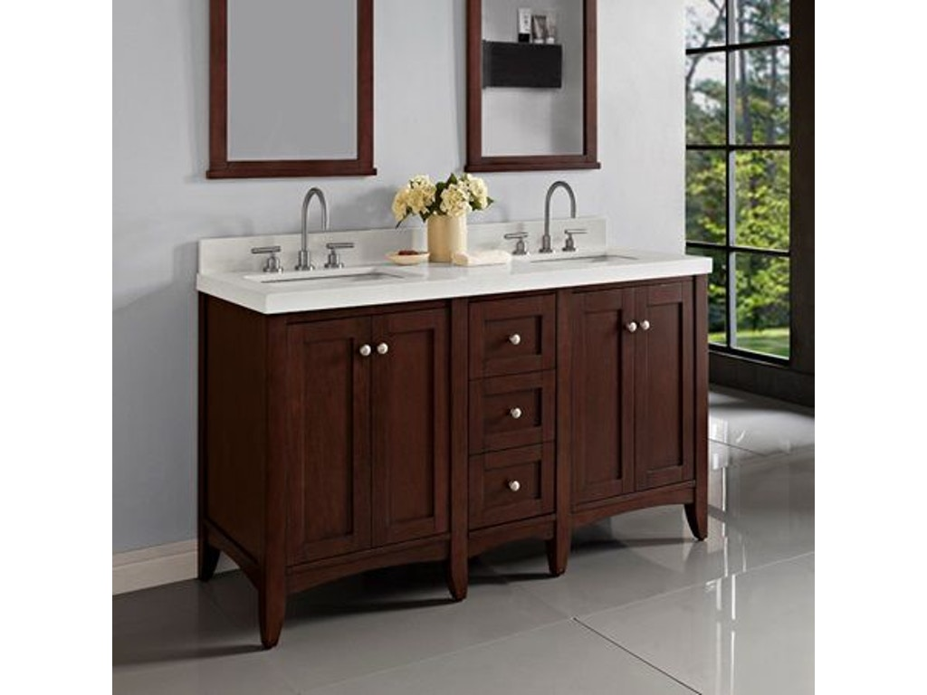 Fairmont Designs Bathroom 60 Inches Modular Vanity 1513 V24 Db12 V24 Simply Discount Furniture