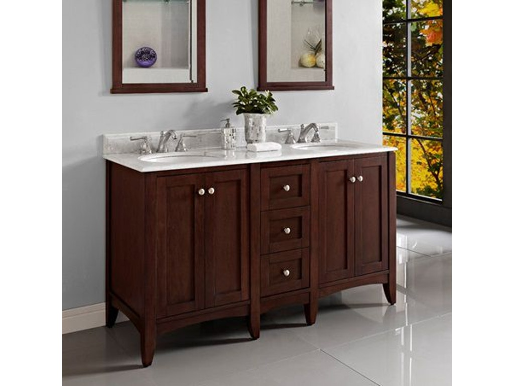 Fairmont designs bathroom 60 inches modular vanity 1513 v24 db12 v24 simply discount furniture - Simply design a bathroom vanity with five steps ...