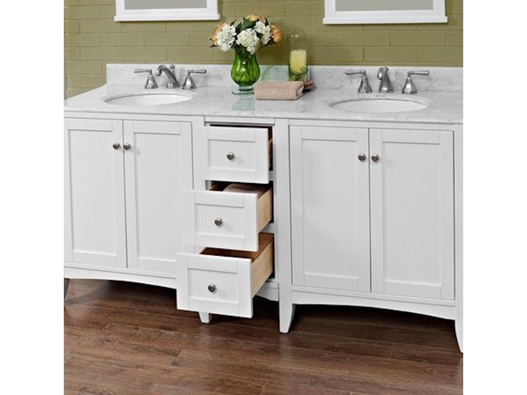 Fairmont Designs Bathroom 72 Inches Double Bowl Vanity 1512 ...