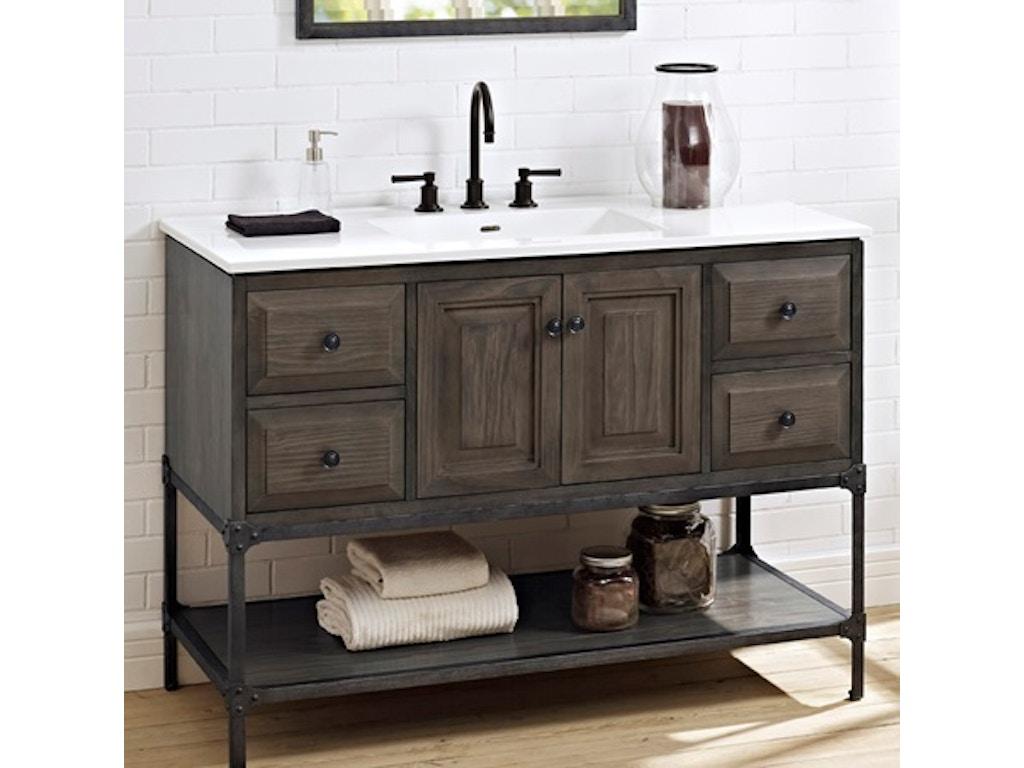 Fairmont designs bathroom 48 inches vanity door 1401 48 simply discount furniture santa - Simply design a bathroom vanity with five steps ...