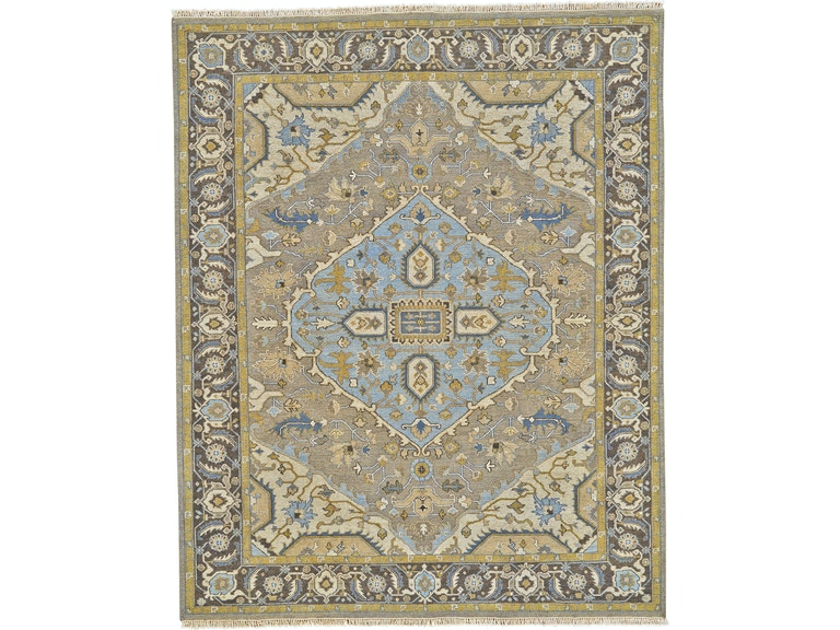 Feizy White Label Rugs Albemarle 513 R0638 Dark Gray Charcoal
