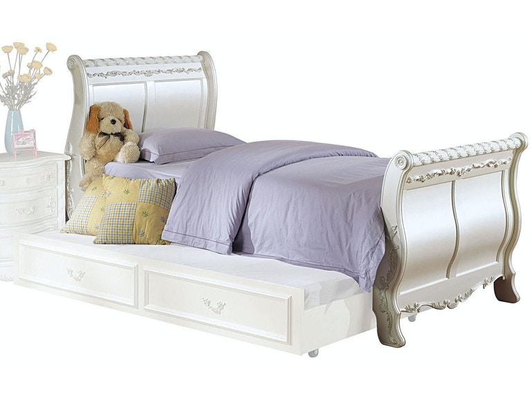 Acme Furniture Youth Pearl Twin Sleigh Bed 01010t