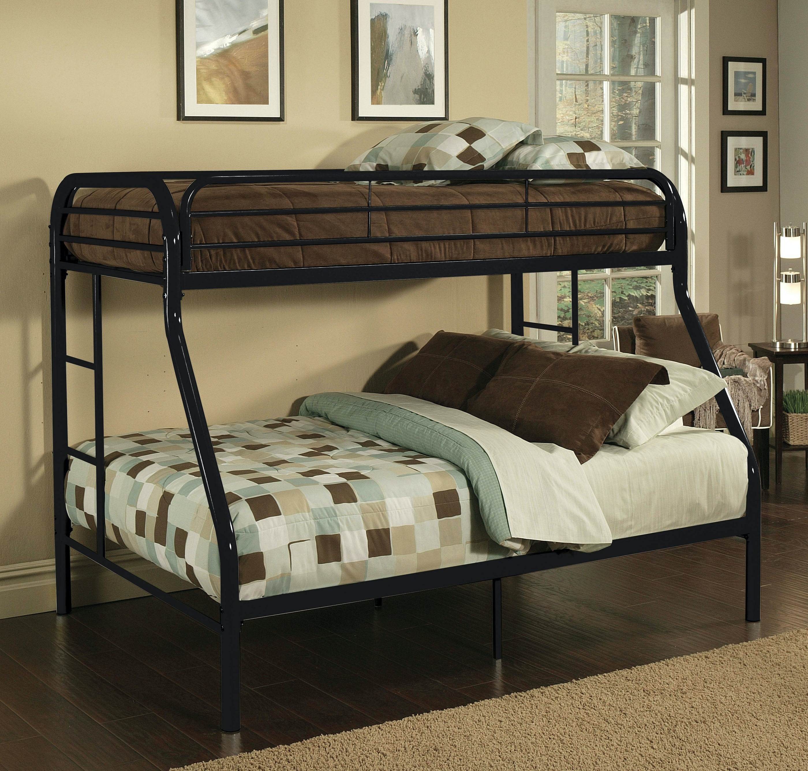 Acme Furniture Youth Tritan Twin Xl Over Queen Bunk Bed 02052bk