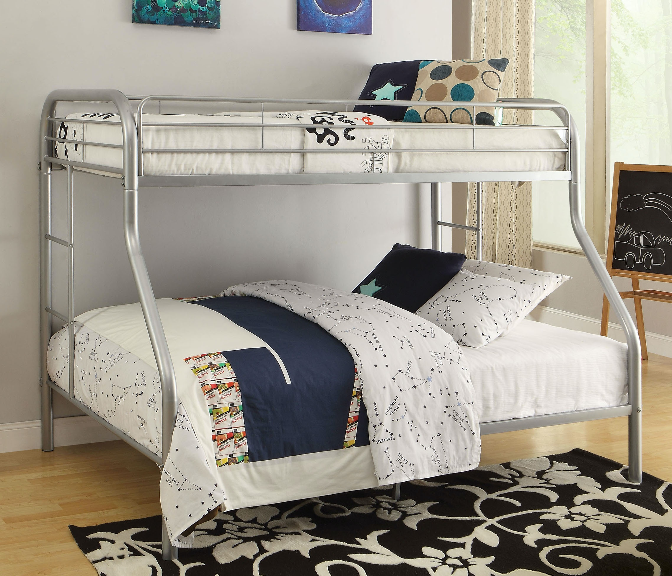 Acme Furniture Tritan Twin XL Over Queen Bunk Bed 02052SI