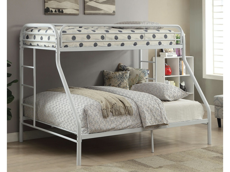 Acme Furniture Youth Twin Xl Over Queen Bunk Bed 02052wh The