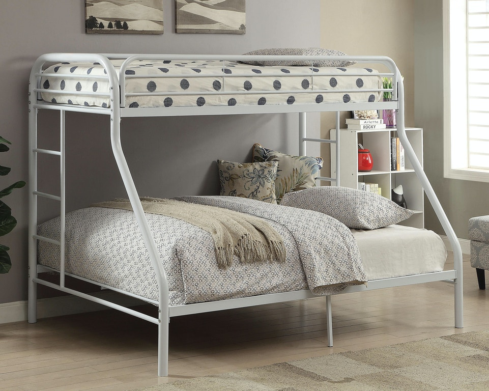 Acme Furniture Youth Tritan Twin Xl Queen Bunk Bed 02052wh Aaron S Fine Furniture Altamonte