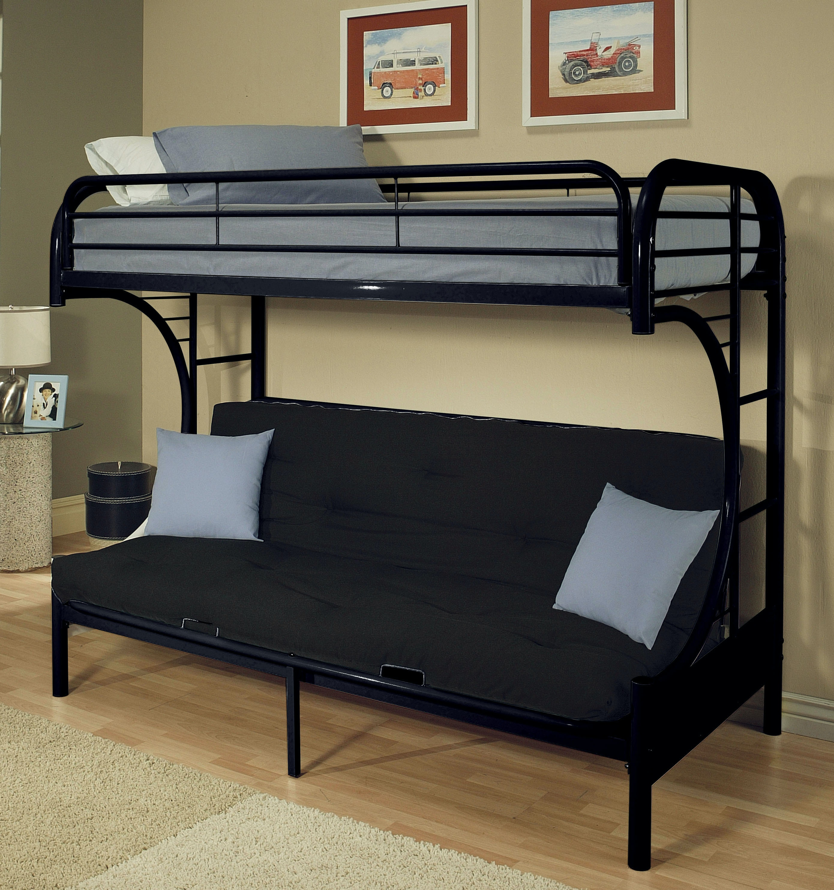 Acme Furniture Youth Eclipse Twin over FullFuton Bunk Bed 02091WBK