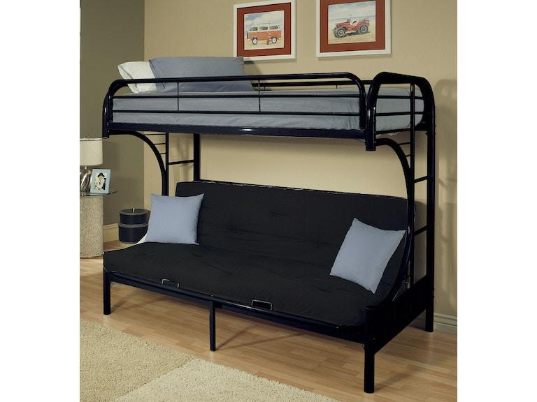 Acme Furniture Twin Over Full Futon Bunk Bed 02091w Bk
