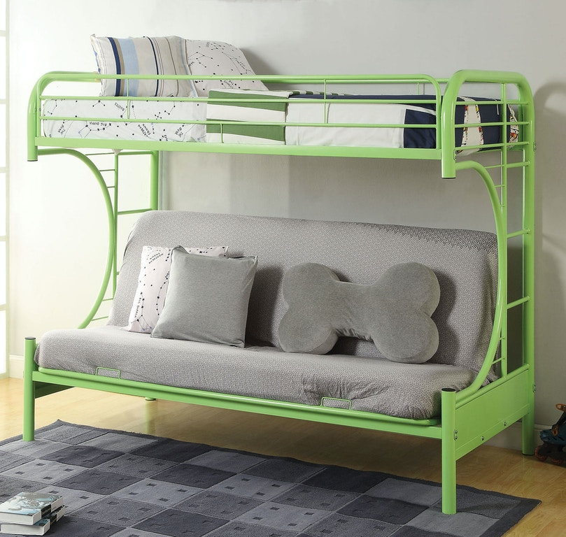 Twin Over Full Futon Bunk Bed 02091w Gr