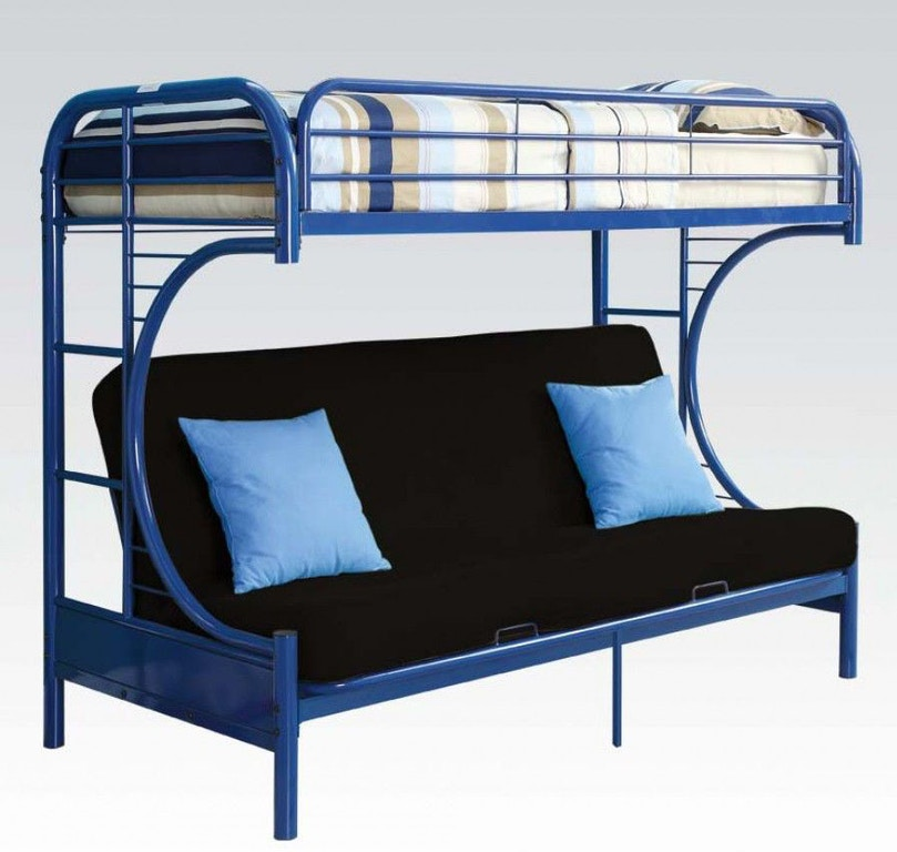 Twin Over Full Futon Bunk Bed 02091w Nv