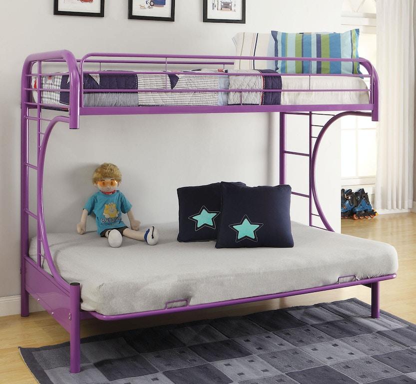 Acme Furniture Youth Eclipse Twin Full Futon Bunk Bed 02091w Pu Leon Furniture Phoenix Az
