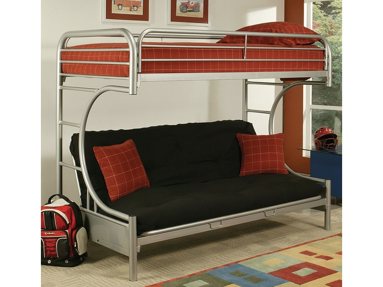 Acme Furniture Youth Twin Over Full Futon Bunk Bed 02091w Si The