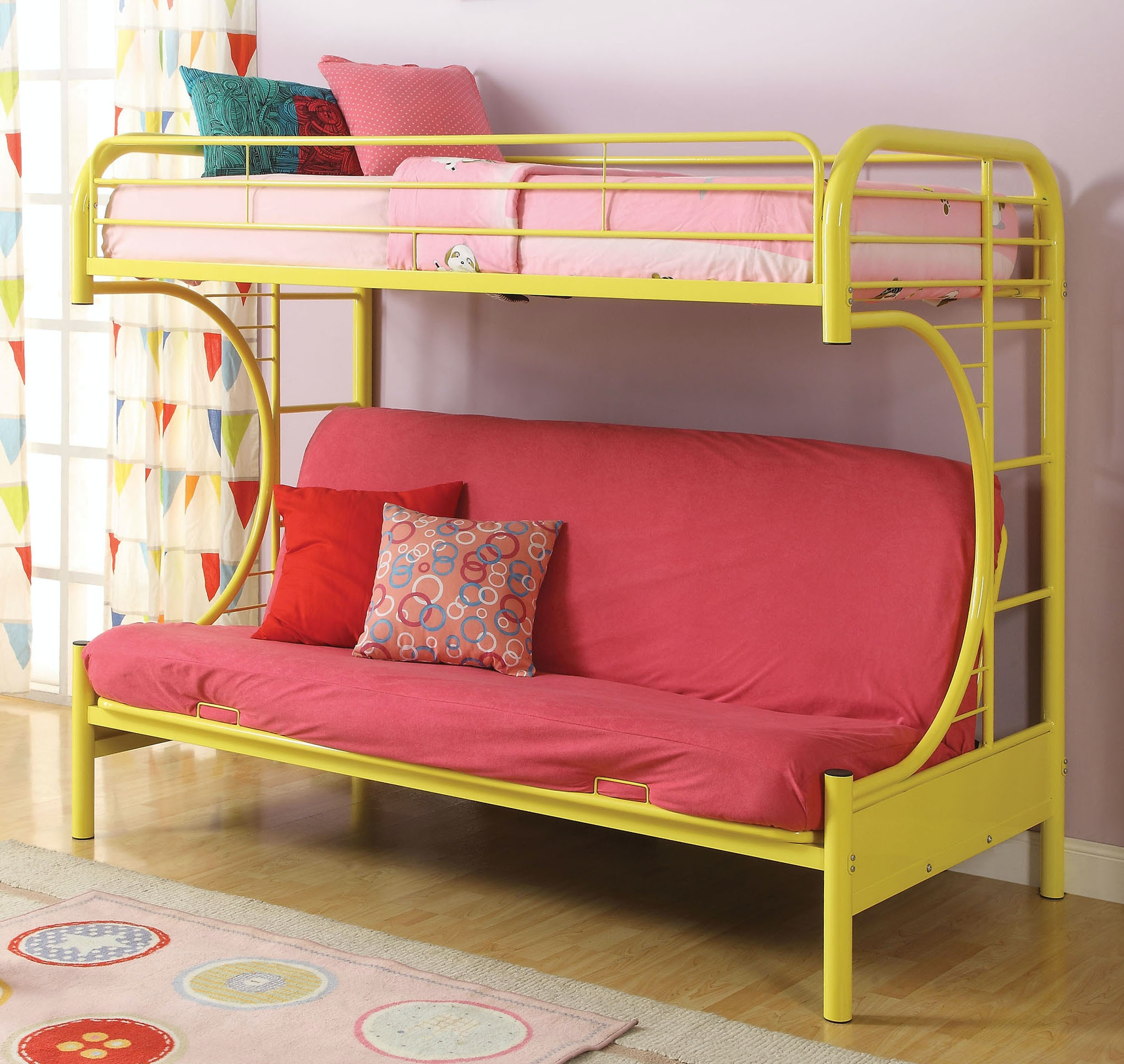 Acme Furniture Youth Twin Over Full Futon Bunk Bed 02091w Yl