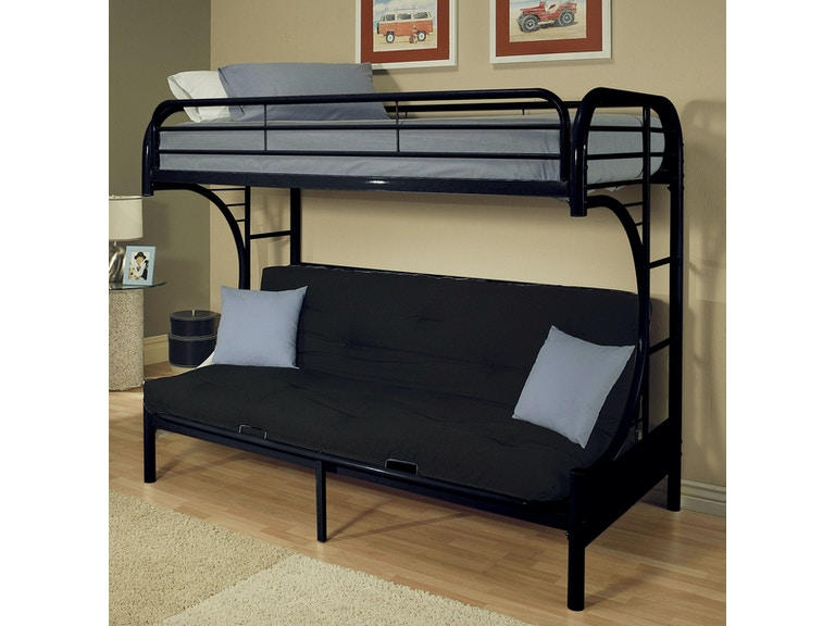 Acme Furniture Eclipse Twin Xl Over Queen Futon Bunk Bed 02093bk