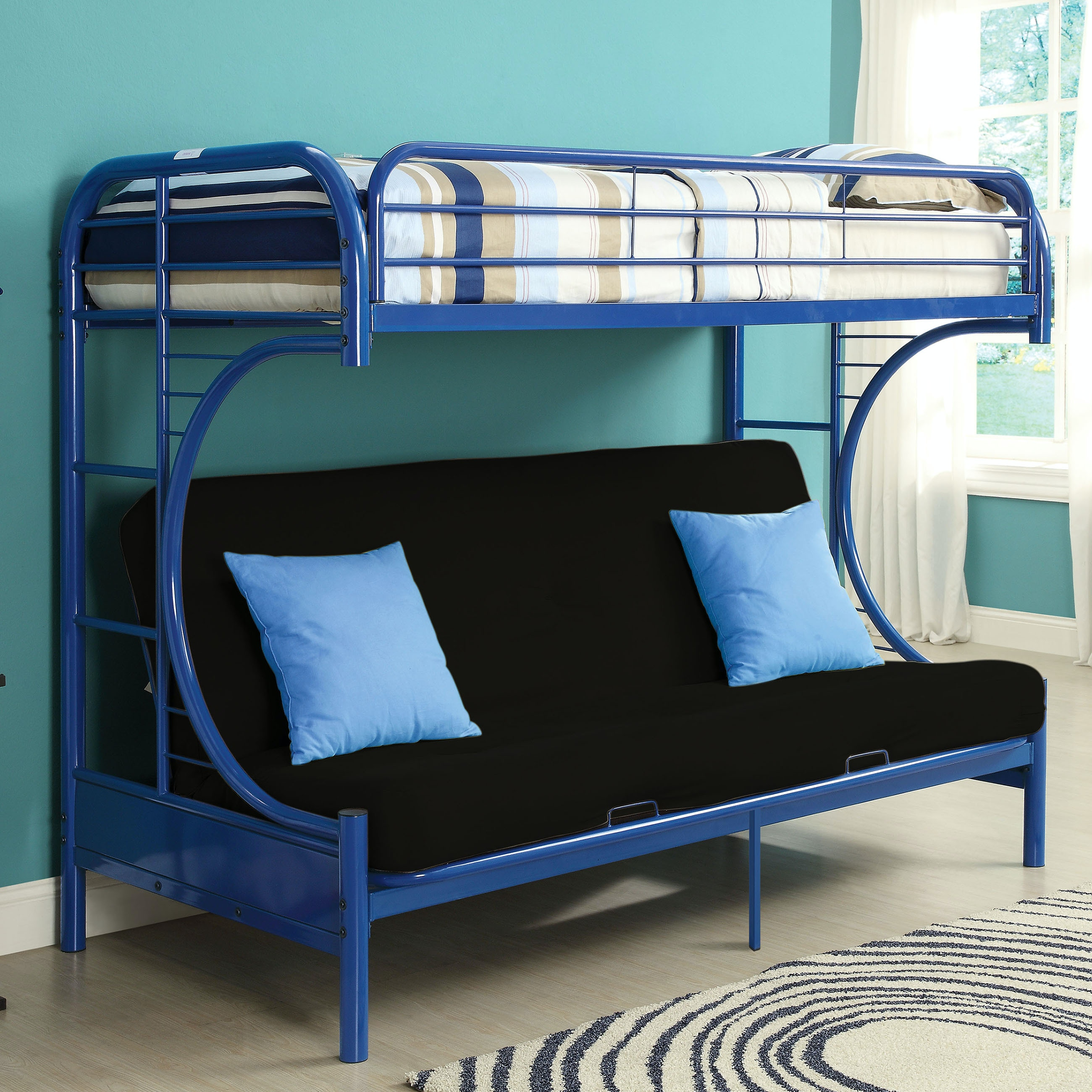 Acme Furniture Youth Eclipse Twin Xl Over Queen Futon Bunk Bed