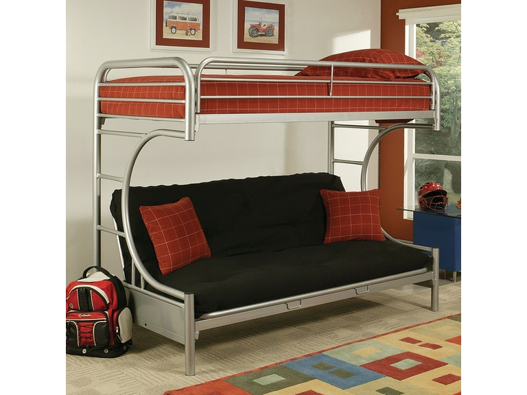 Acme Furniture Eclipse Twin Xl Over Queen Futon Bunk Bed 02093si