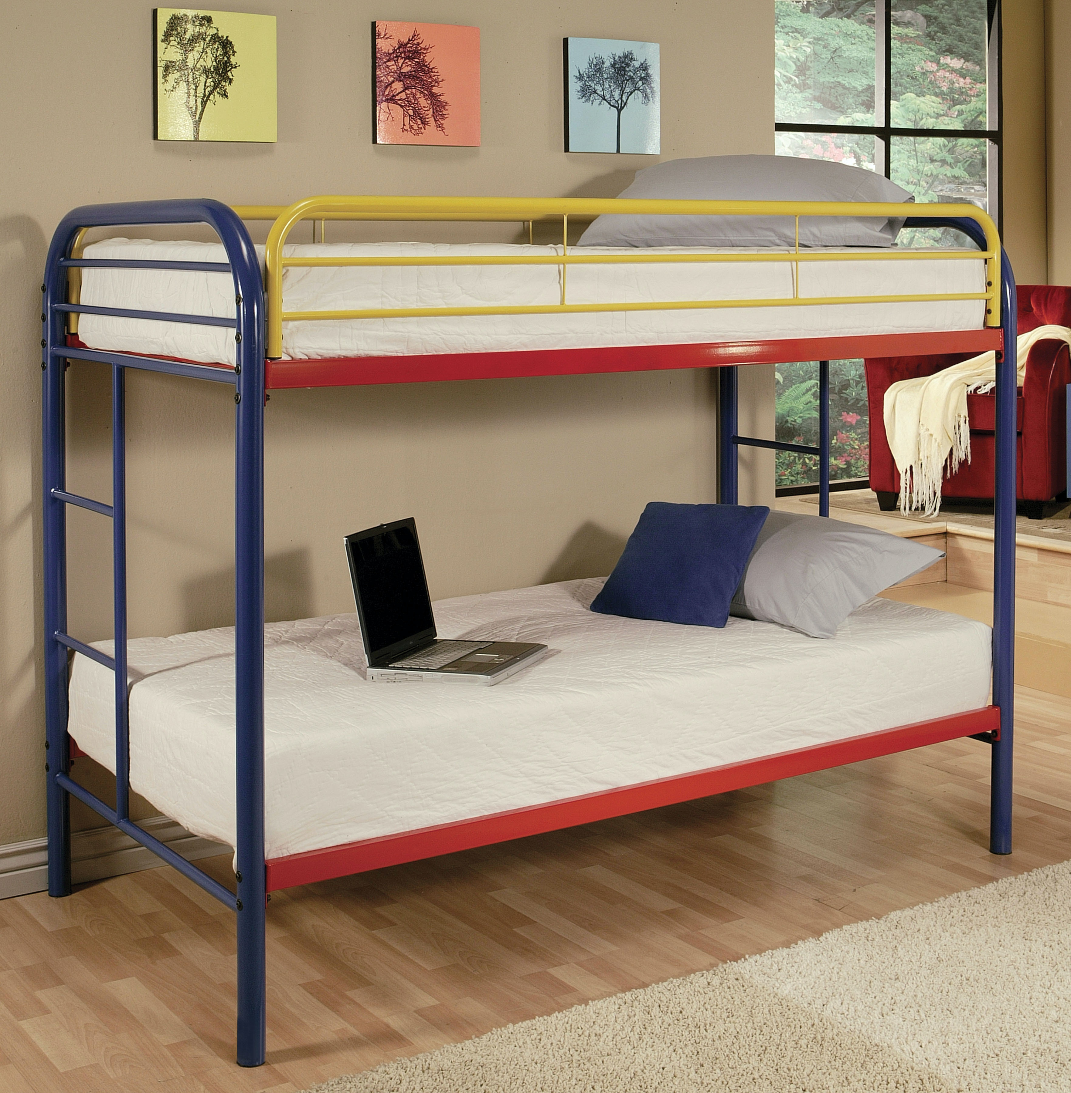 Acme Furniture Youth Twin Over Twin Bunk Bed 02188rnb The