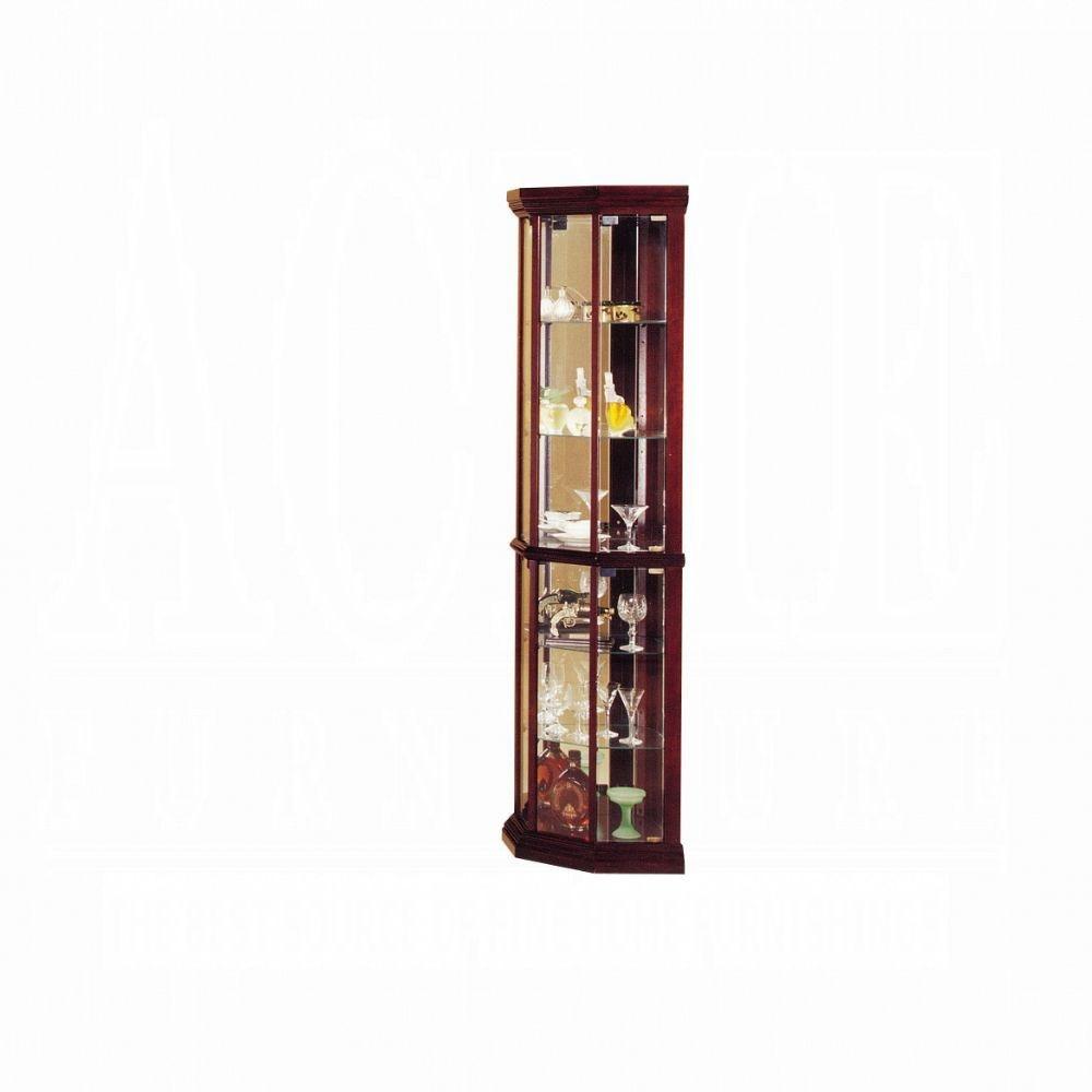 Acme Furniture Huxley Corner Curio Cabinet 02347