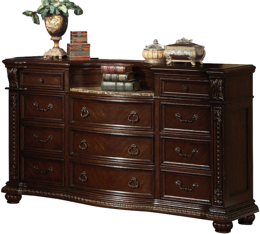 Acme Furniture Bedroom Anondale Dresser With Marble Top
