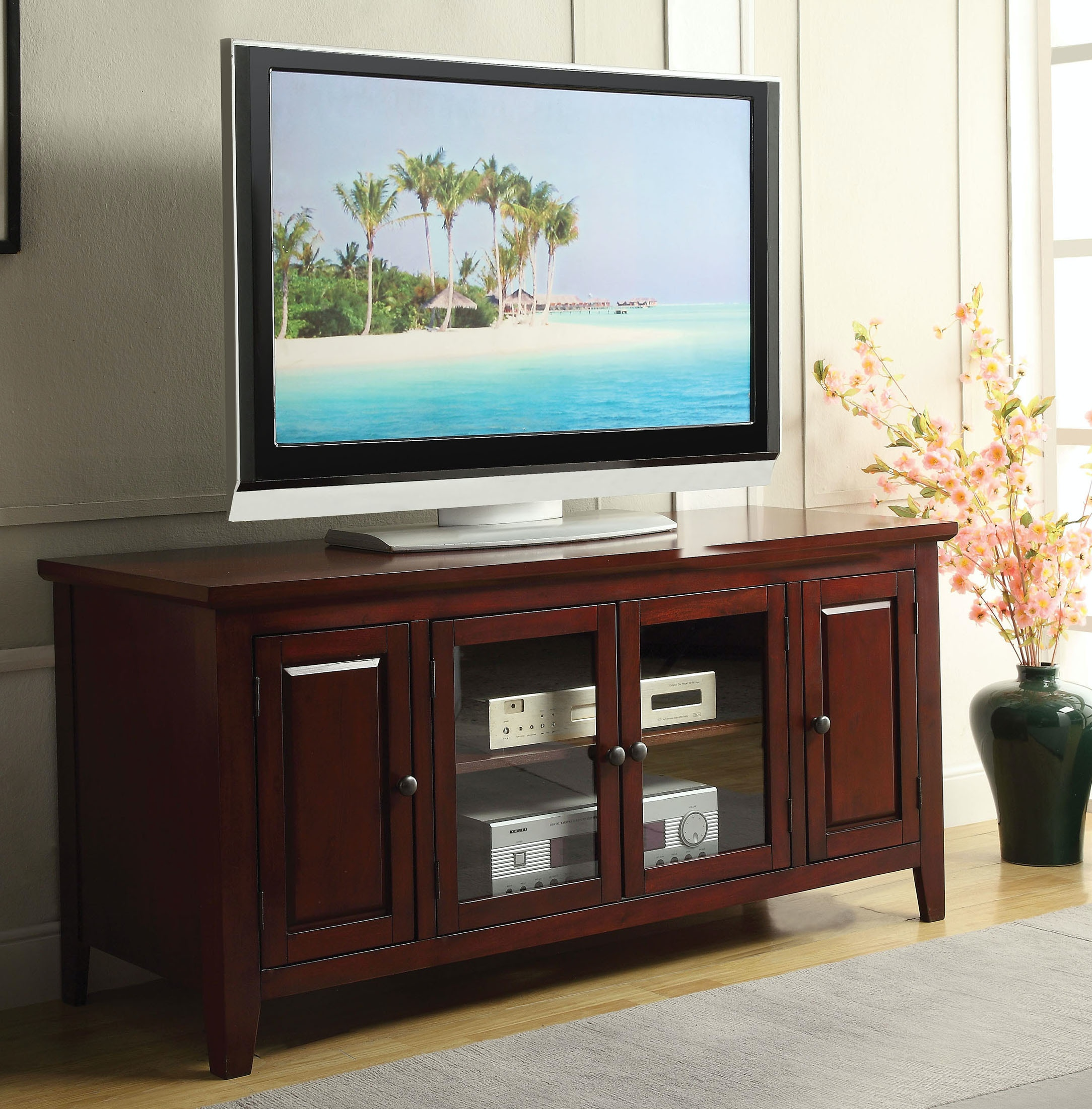 Acme Furniture Home Entertainment Cherry Tv Stand 10340 The