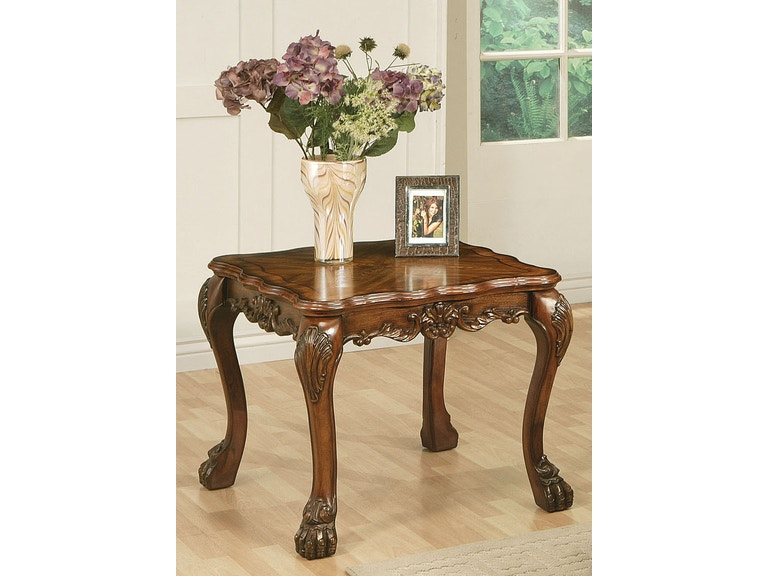 Acme Furniture Living Room Dresden End Table Fulton Stores Brooklyn And Jamaica Ny