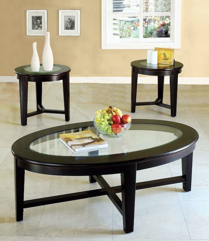 Acme Furniture Living Room Three Piece Coffee And End