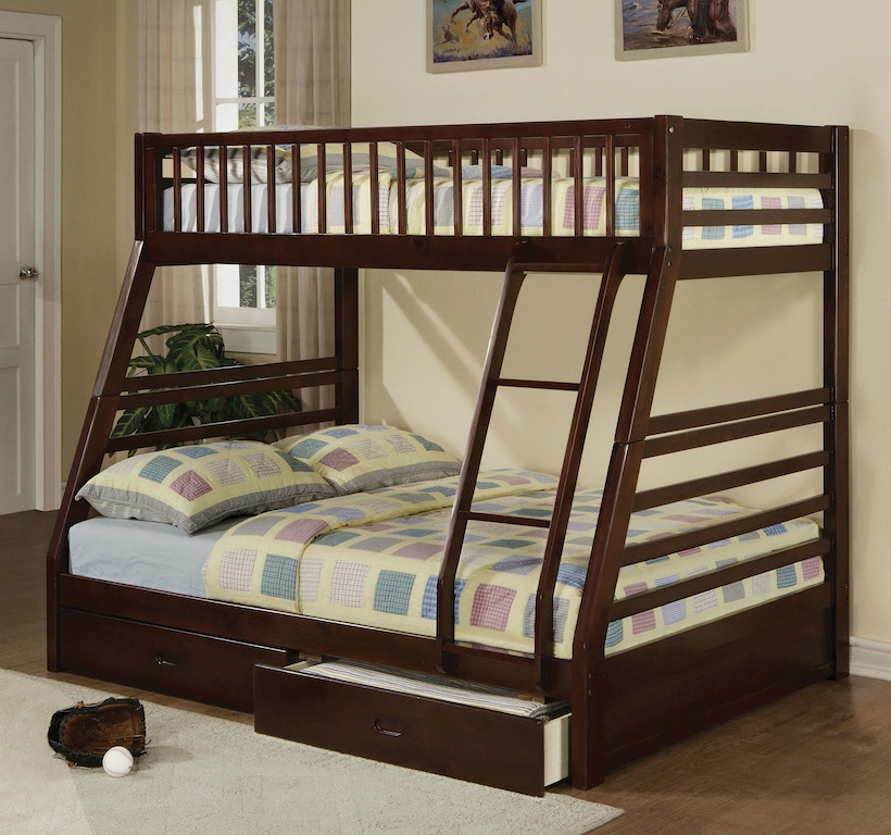 acme furniture youth jason twin  full bunk bed   drawers   furniture mall