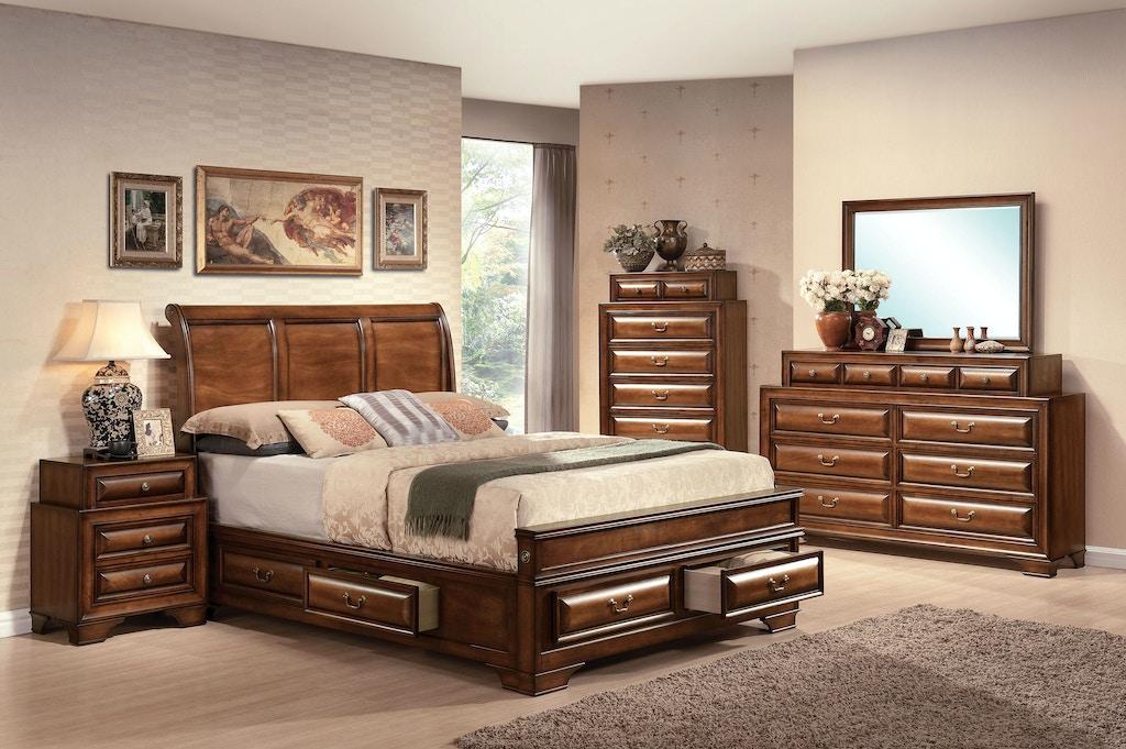 Acme Furniture Bedroom Konane Queen Bed With Storage
