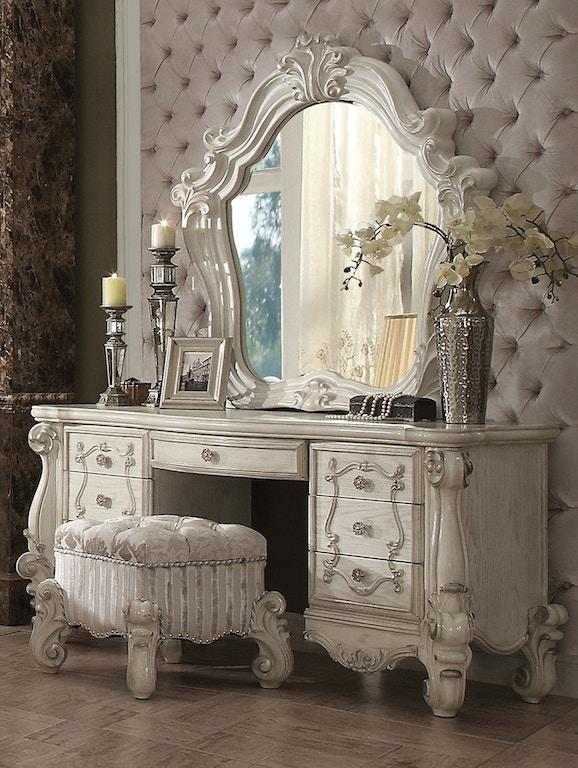 Acme Furniture Bedroom Versailles Vanity Stool 21138 The Furniture