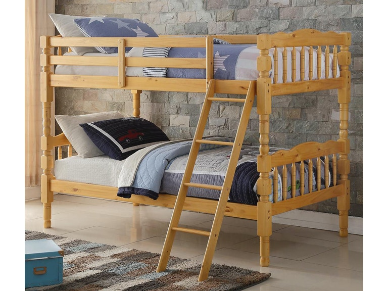Acme Furniture Youth Homestead Twin Over Twin Bunk Bed 2299 The