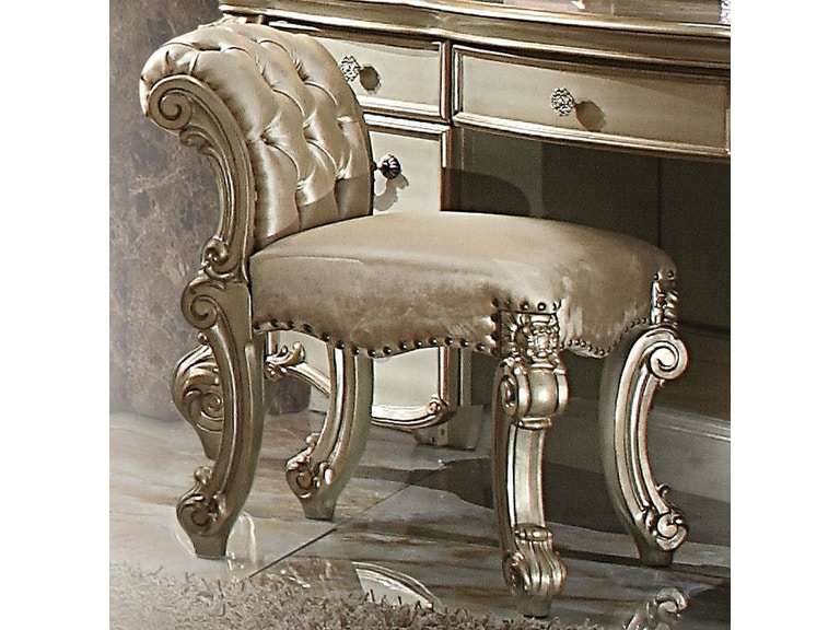 Acme Furniture Bedroom Vanity Stool 23008 - The Furniture Mall ...