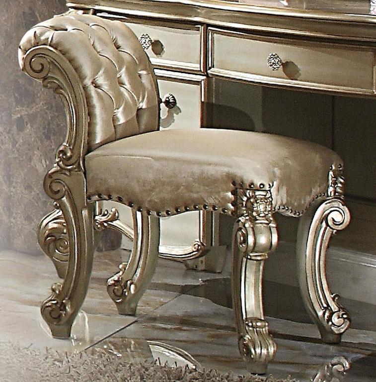 Acme Furniture Bedroom Vanity Stool 23008 - Barron\'s Home ...