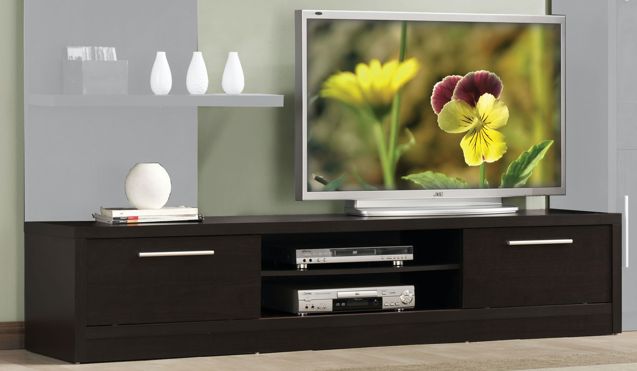 Acme Furniture Home Entertainment Tv Stand With 2 Doors 02475 The