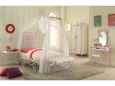 Acme Furniture Youth Priya Ii Twin Bed With Canopy 30530t Barron S