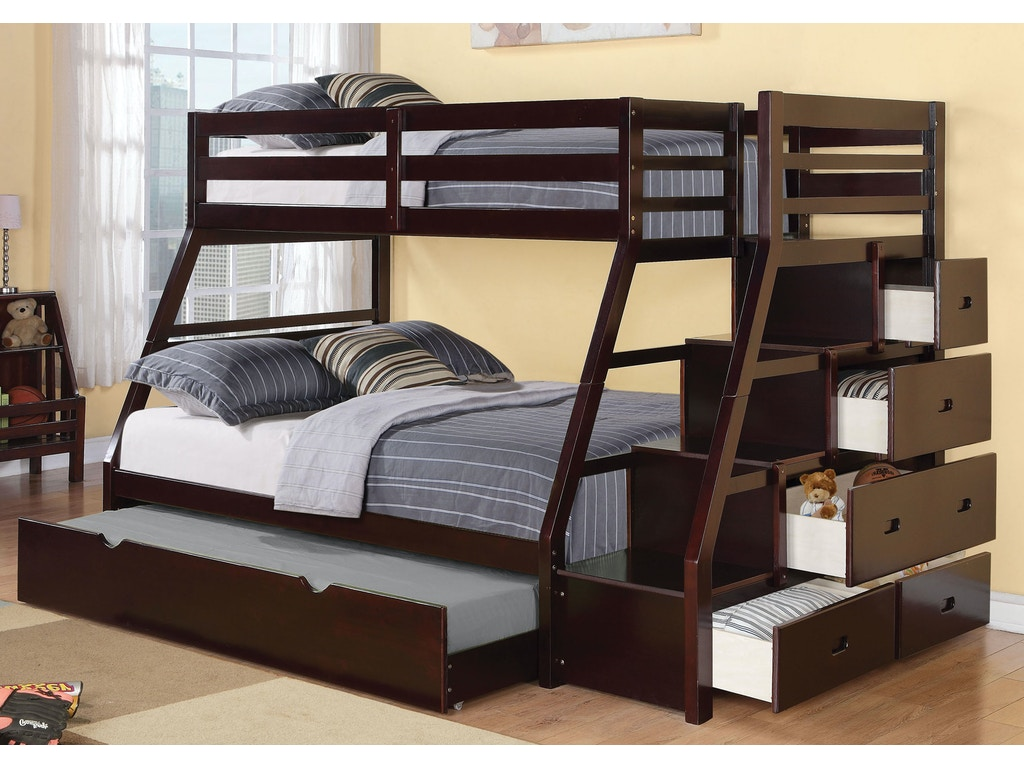 Acme Furniture Youth Jason Twin Over Full Bunk Bed With