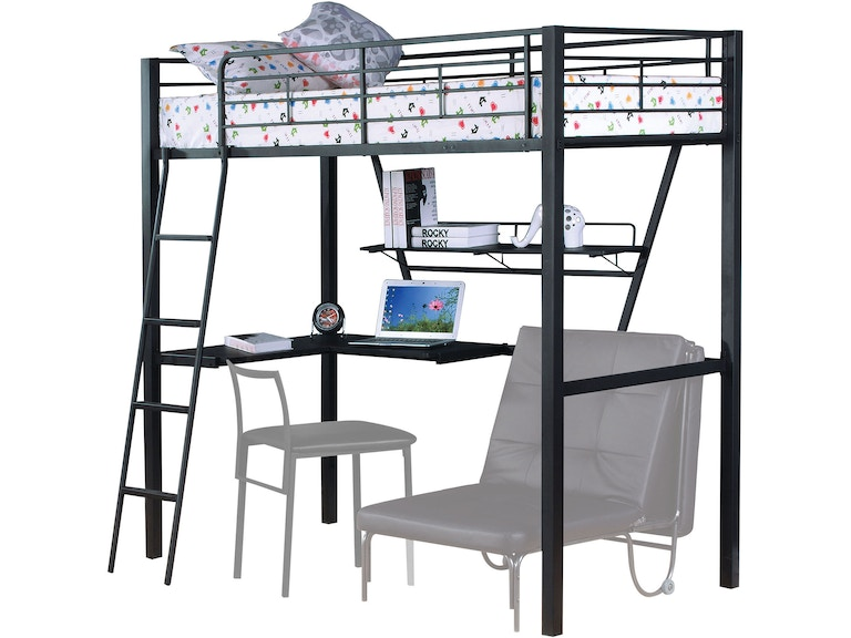 Acme Furniture Youth Loft Bed With Desk 37275 The Furniture Mall