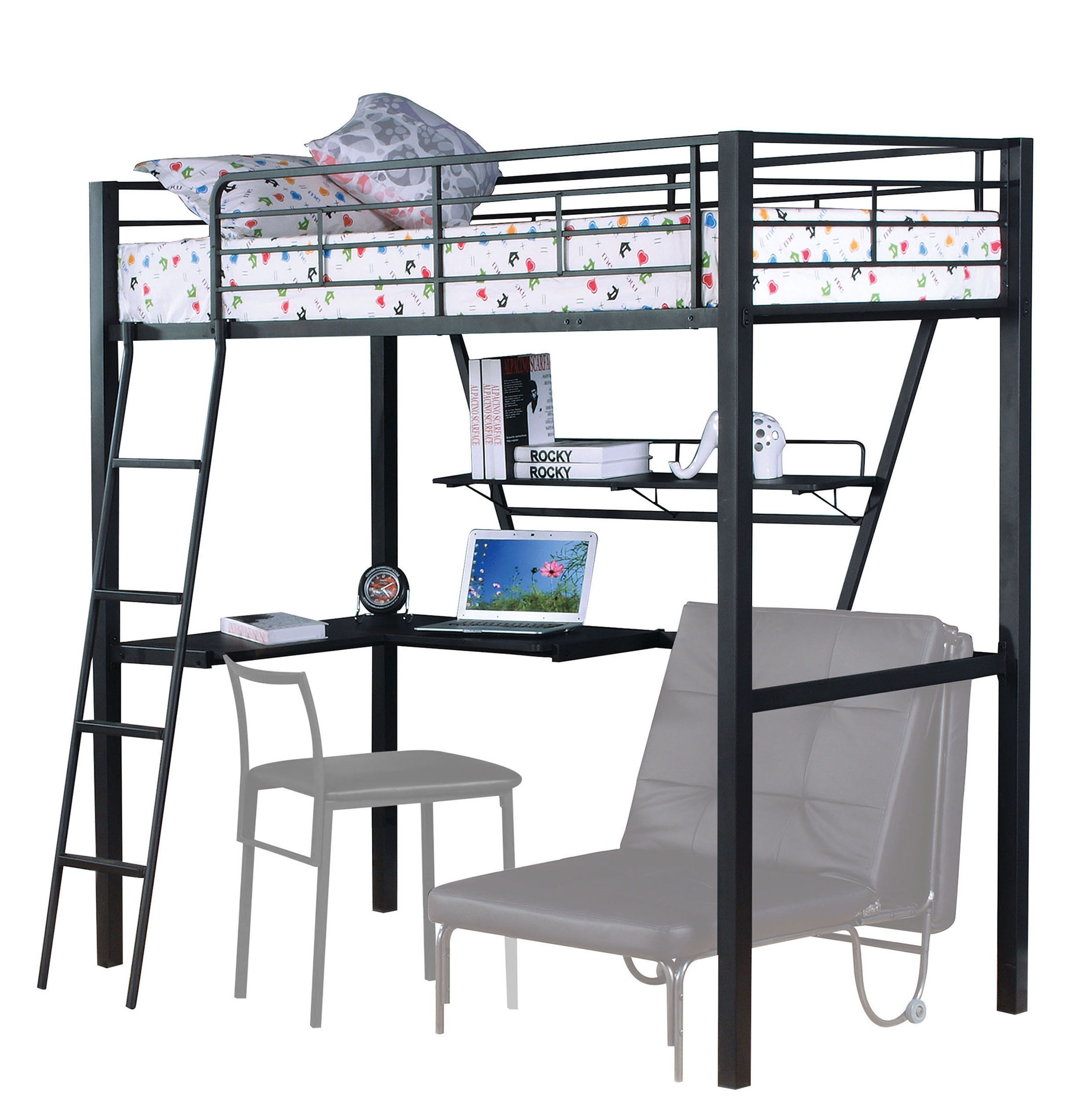 Bon Acme Furniture Loft Bed With Desk 37275