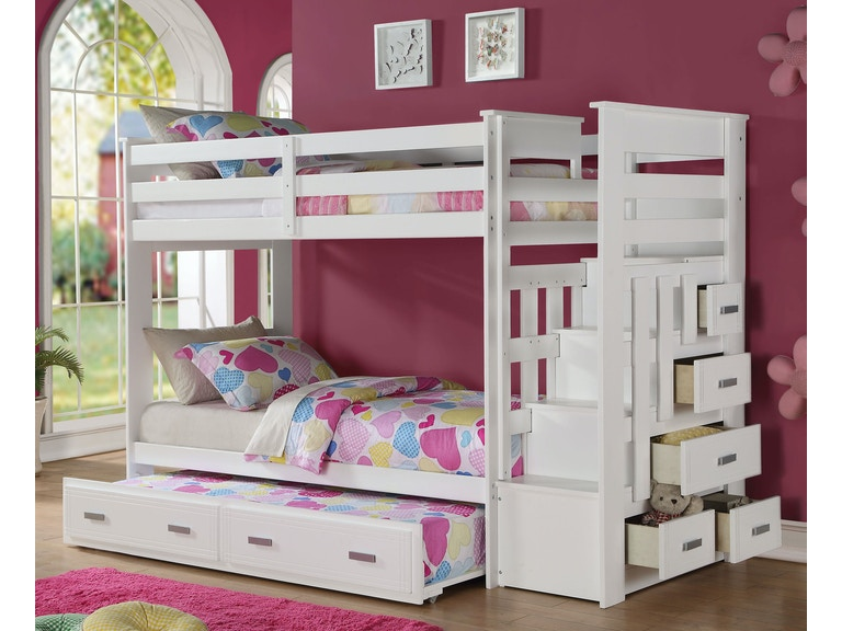 Acme Furniture Allentown White Twin Twin Bunk Bed