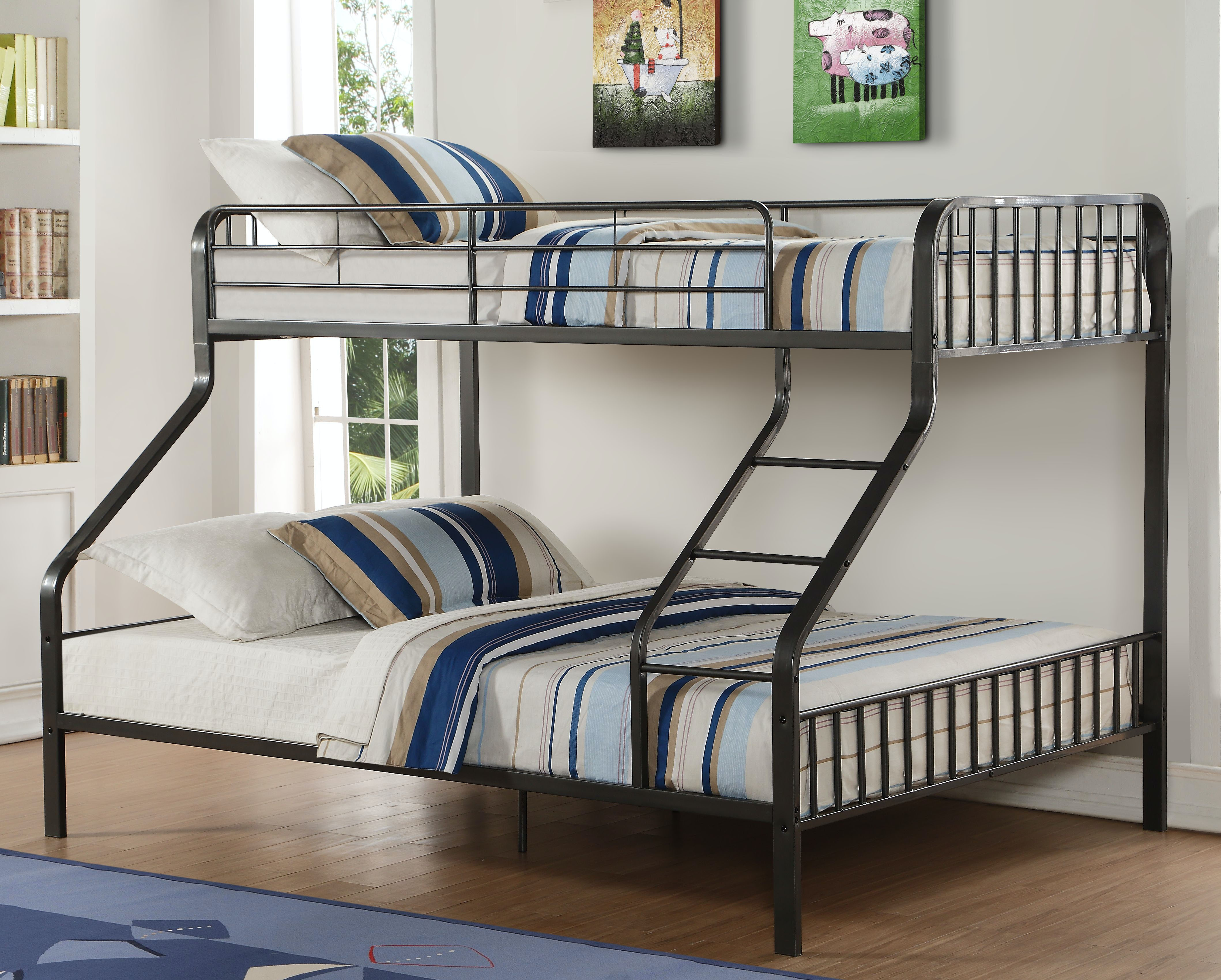 Acme Furniture Caius Twin XL Over Queen Bunk Bed 37605