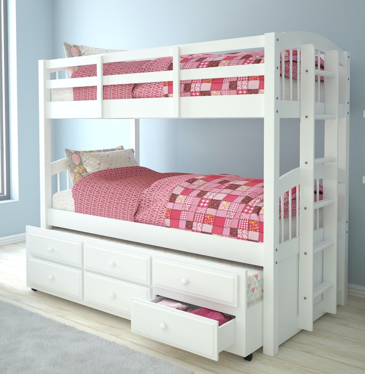 Acme Furniture Youth Micah Twin Twin Bunk Bed And Trundle 39995 The Furniture Mall Duluth And